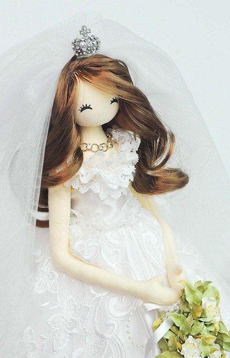 Bride doll - Handmade Bride doll - #bridedolls