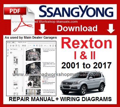 Ssangyong Rexton 2001 To 2017 Workshop Repair Manual Repair Manuals Repair Workshop