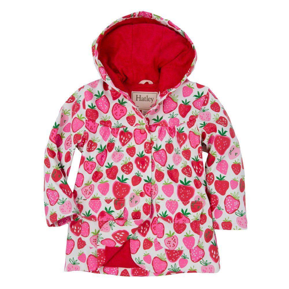 Hatley Strawberry Sundae Raincoat Kids Outfits Online Kids Clothes Girls Raincoat