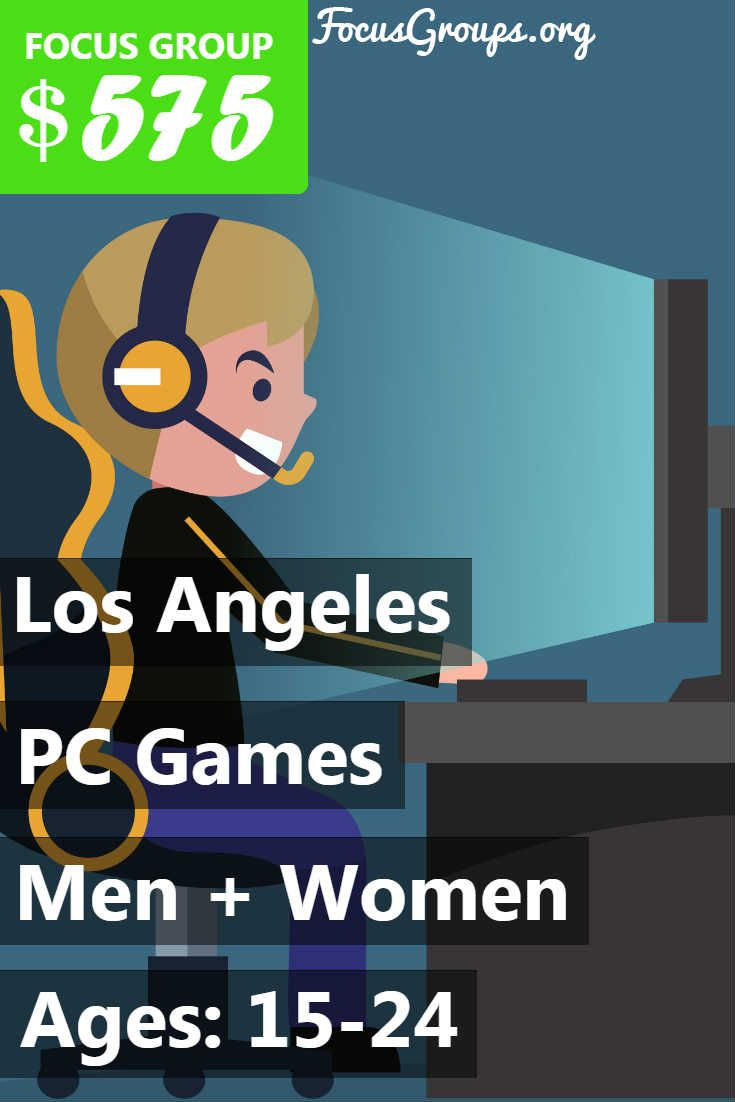 Focus Group for Men on Video Games in LA – $125 ...  Focus Group Games