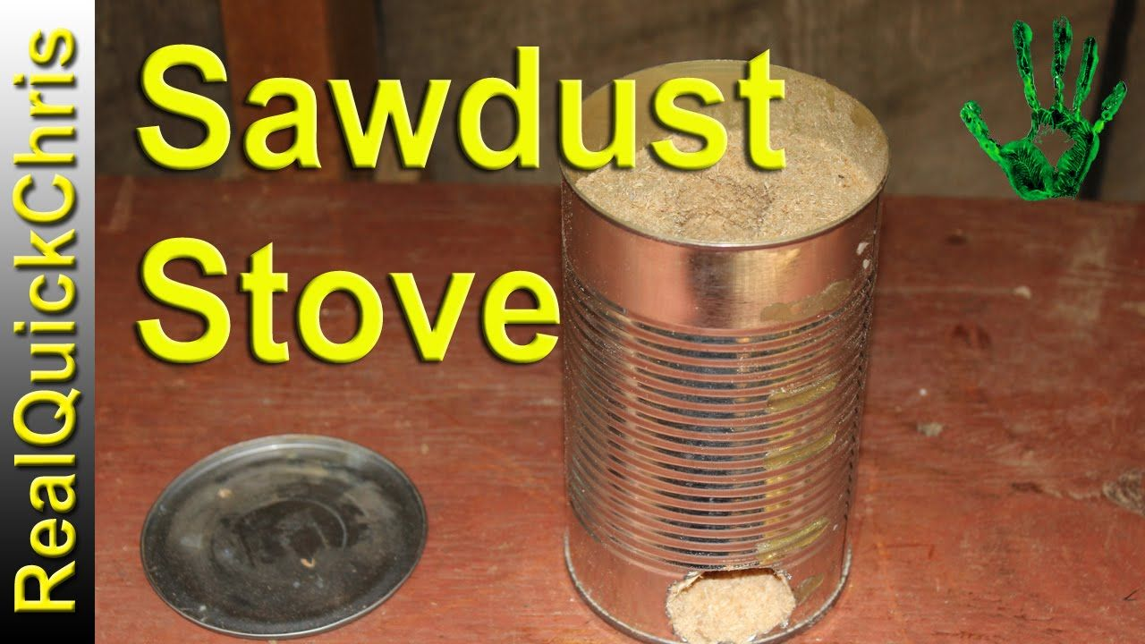 sawdust stove | Survival DIY builds | Pinterest