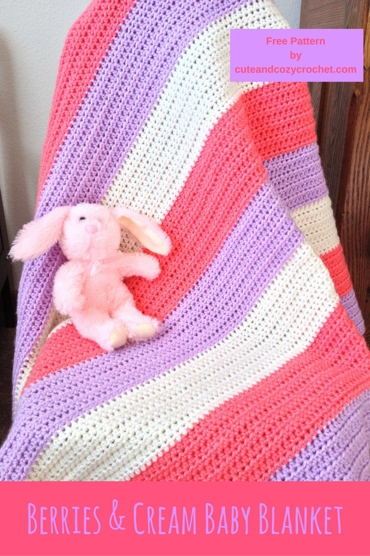Berries and cream baby blanket beginner crochet easy crochet berries cream baby blanket free crochet pattern baby girl blanket baby shower bankloansurffo Gallery