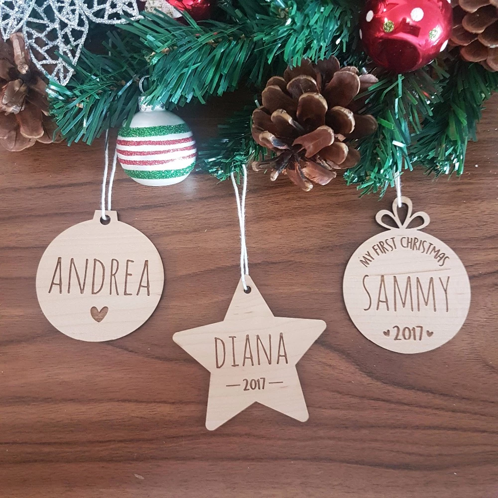 Personalized Christmas Tree Ornaments Gifts Engraved Personalized Christmas Tree Ornament Personalized Christmas Tree Ornaments