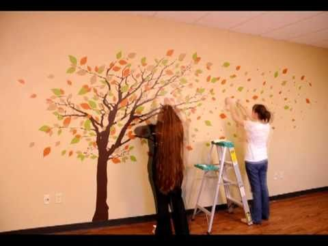 This Is An Installation Of One Of Our Most Popular Trees This - How to put up wall decal