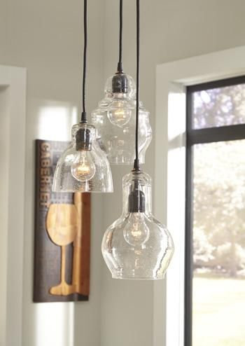 Glass Pendant Light Price 299 Features Seeded Glass