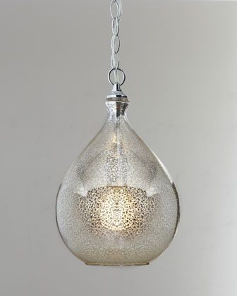 Mercury glass pendant light at horchow this is a strong contender