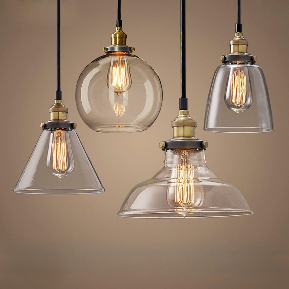 Modern Pendant Lights Nordic Vintage Glass Lamp Russia Loft