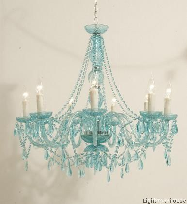 turquoise chandelier lighting. Gorgeous Turquoise Chandelier, Teal, Light Turquoise, Blue-green, Aqua, Aquamarine Chandelier Lighting E