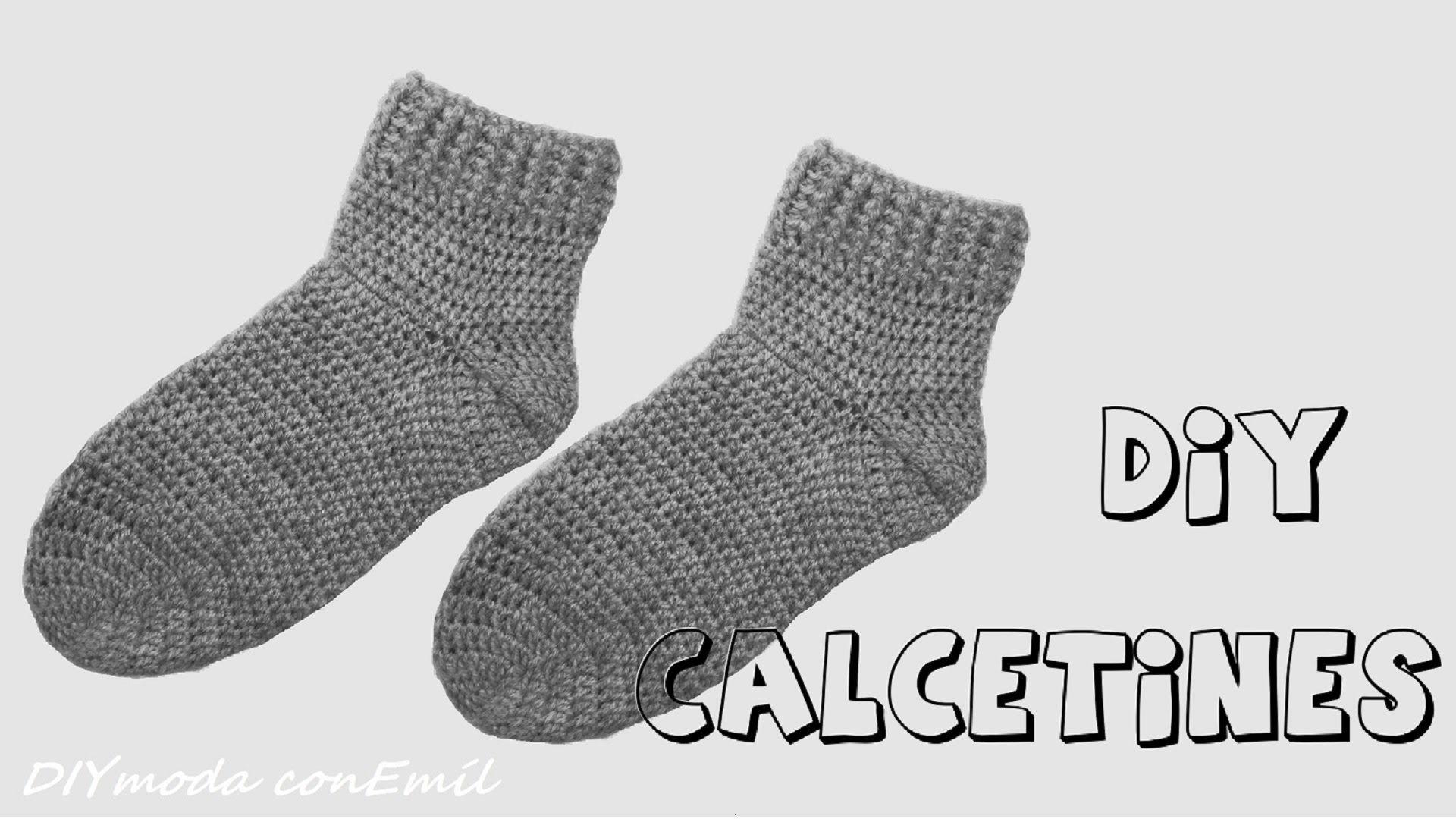 Calcetines o medias tejidas en crochet o ganchillo paso a paso ...