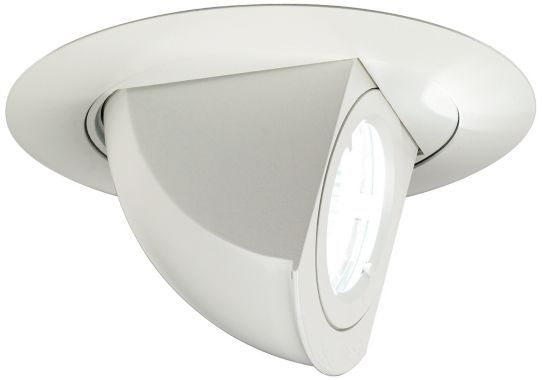 White 4 Inch W Adjustable Juno Angle Recessed Light Trim