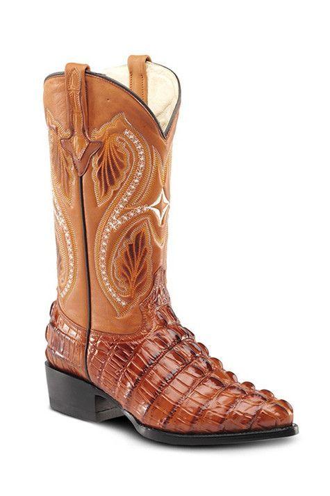 18f269276c Bonanza Exotic Crocodile Cowboy Boots - 51105 Mantequilla