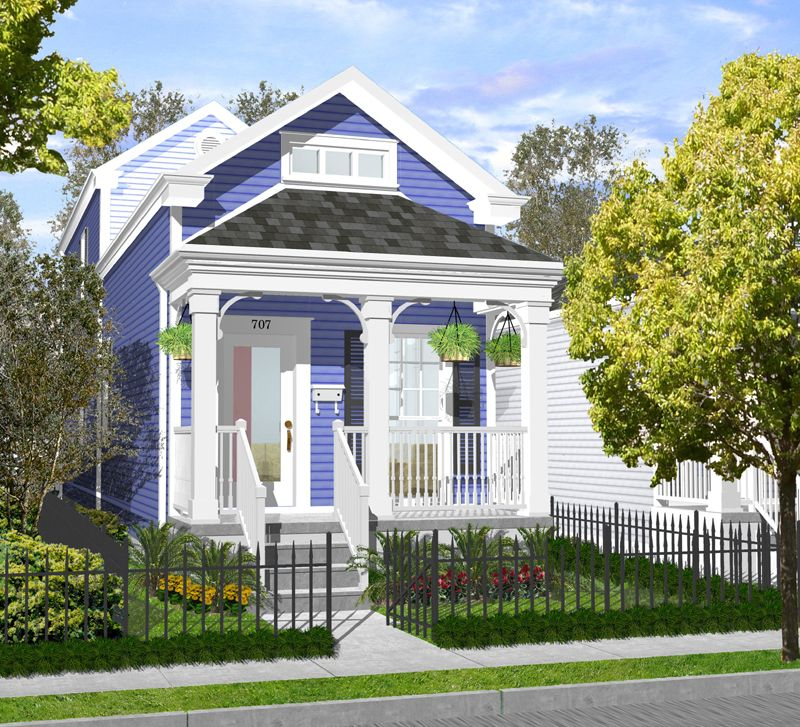 House plans new orleans cottage for Creole cottage house plans