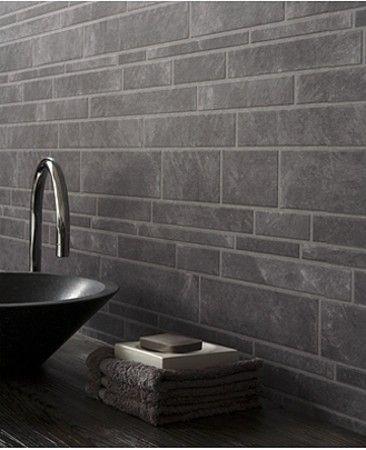 Contour Tiling On A Roll Tile Slate Grey Wallpaper 56440 Slate Bathroom Wallpaper Accent Wall Bathroom Slate Wallpaper