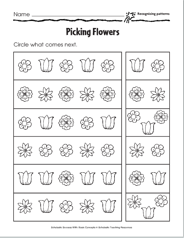 Lesson Six Pictoral Patterns Pinterest Worksheets Patterns