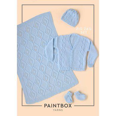 Zig Zag Set Baby Layette Set Free Knitting Pattern K1 Dc2 Baby