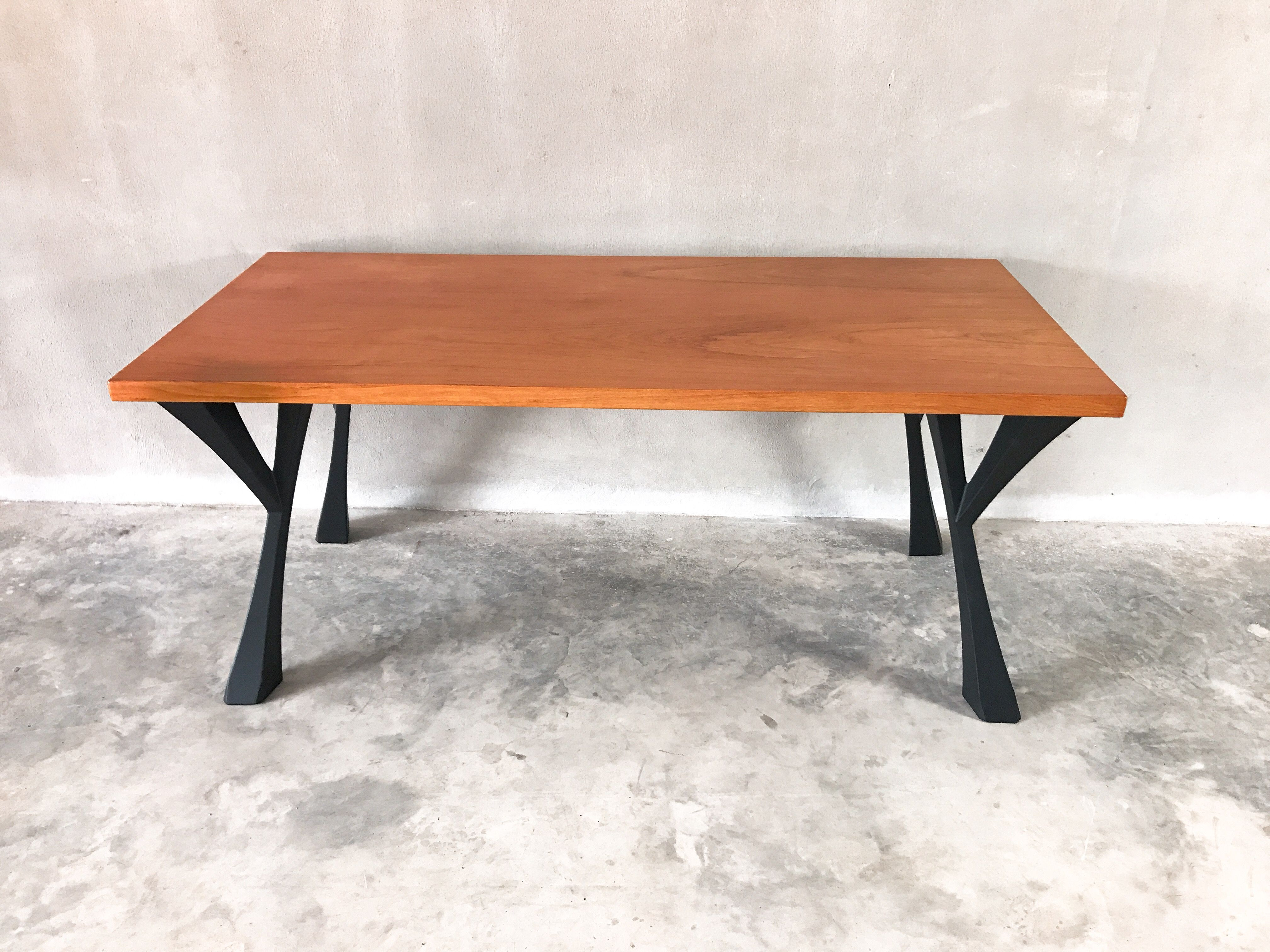 Terrific Table Metal Legs Base For Dinning Table Live Edge Table Beutiful Home Inspiration Aditmahrainfo