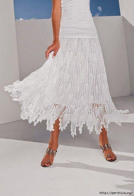 Free pattern for this very pretty crochet skirt…. | Horgolt dolgok ...