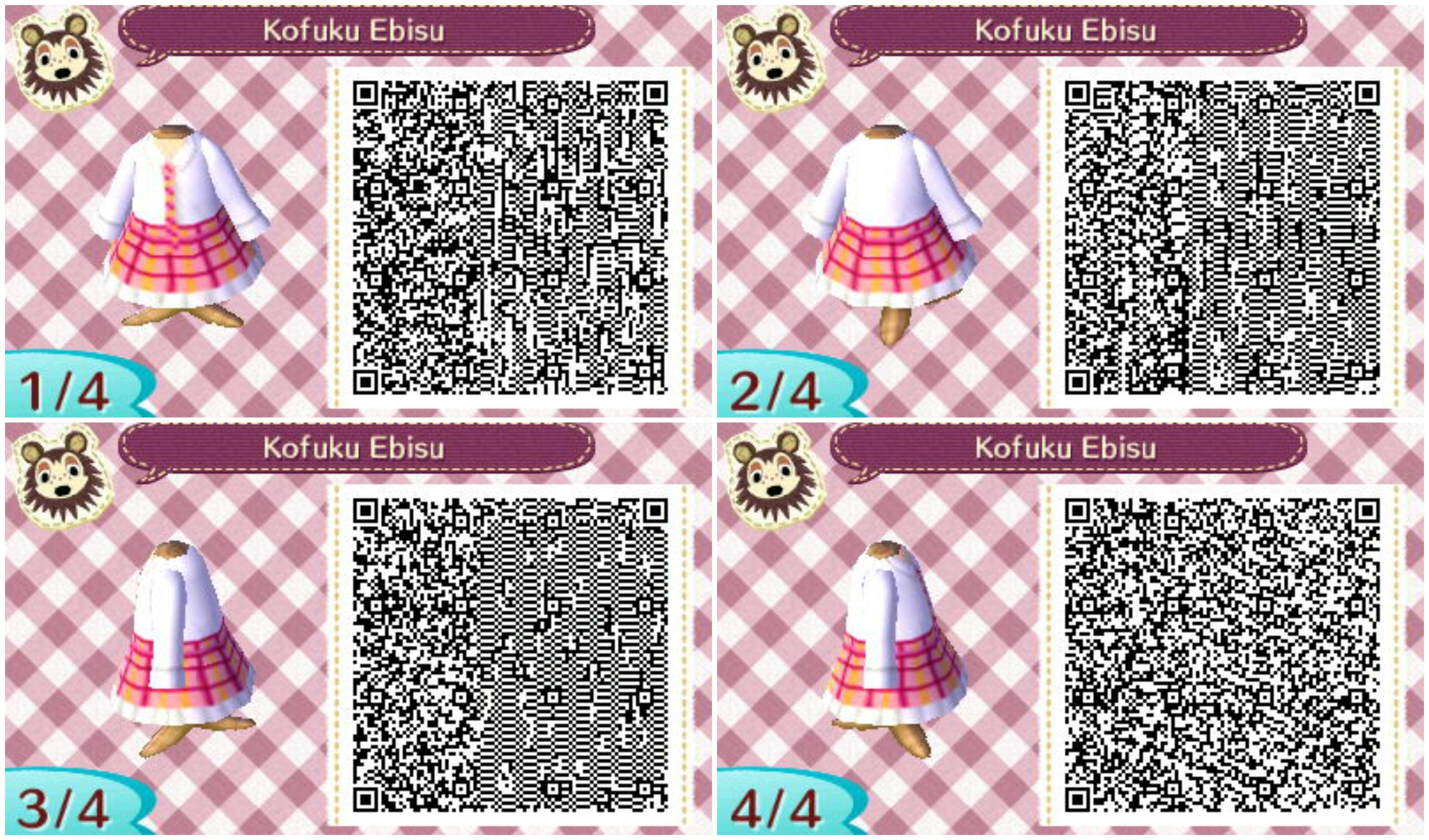 Kofuku Ebisu Outfit Noragami Anime Qr Code Animal Crossing New