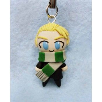 Draco, keychain,mobile accessories,harry potter,malfoy,fimo, llavero,colgante de movil,