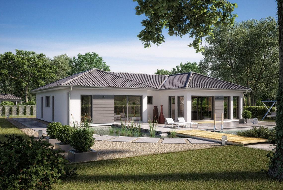 Grundriss einfamilienhaus modern ebenerdig  Bungalow Marseille M - RENSCH-HAUS GMBH | Häuser | Pinterest ...