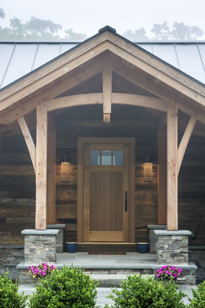 the entry to this home is a western red cedar door a unique