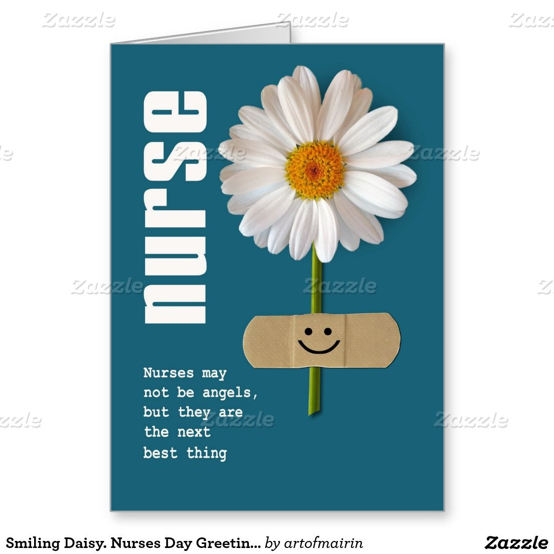 Thank you nurse smiling daisy design nurses day nurses week thank you nurse greeting card created by artofmairin kristyandbryce Gallery