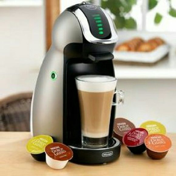 Nescafe Dolce Genio  Beverage Maker Price is firm Enjoy a perfect coffee drink every time with the Delonghi Nescafe Dolce Gusto Genio coffeemaker. This multi-beverage single serve system can produce gourmet-quality coffees, lattes, cappuccinos, iced drinks and more and is perfect for parties, entertaining, and family functions. With hot and cold beverage preparation you will always have the ideal drink to quench your thirst, all you have to do is choose a beverage capsule, slide it in, and…