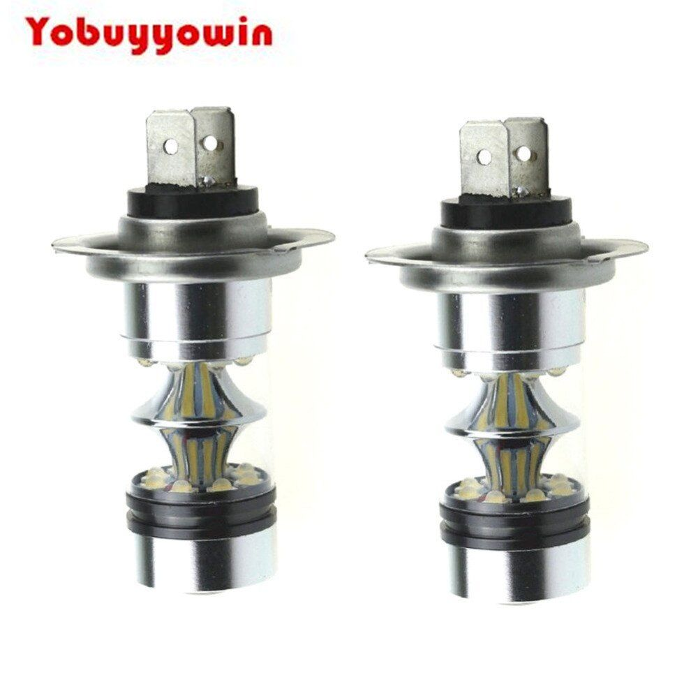H7 6000k 100w Led 20 Smd Cree Chip Projector Fog Driving Drl Auto Vehicule Ampoule Lampe Led Voiture Blanc Di 2020