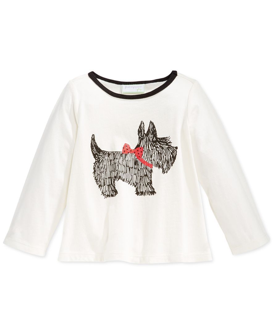 First Impressions Baby Girls' Scottie dog T-Shirt, Only at Macy's