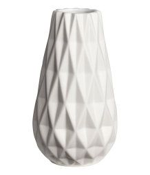 Textured Vase | White | H&M HOME | H&M US