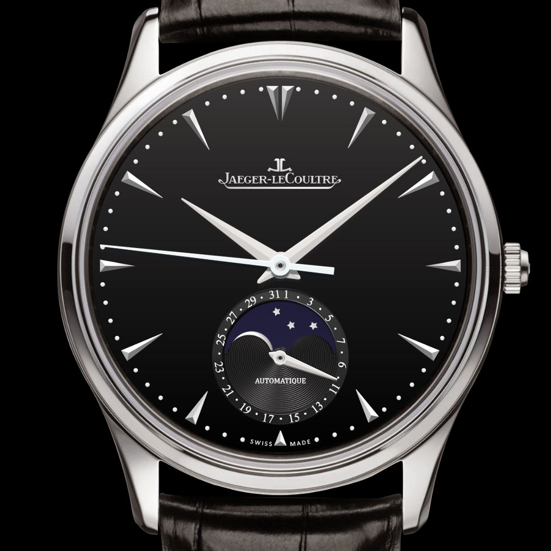 Black face app - This Is Four Hands Watch Showing Date On Small Dial Moonphase Is Implemented Watch Facesappdatesblack