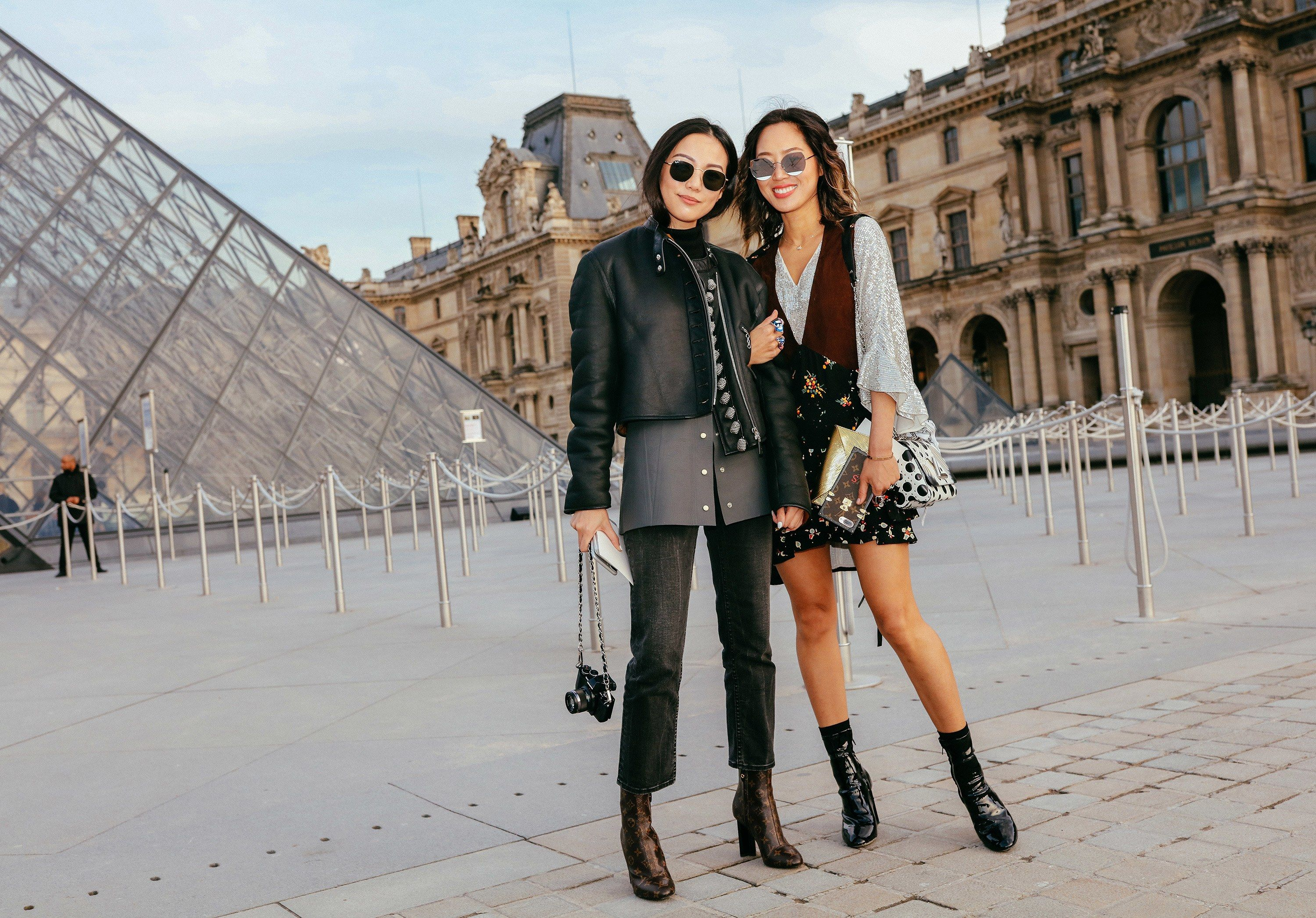 cba86f4229b Yoyo Cao in Louis Vuitton and Aimee Song in Louis Vuitton with Gentle  Monster sunglasses