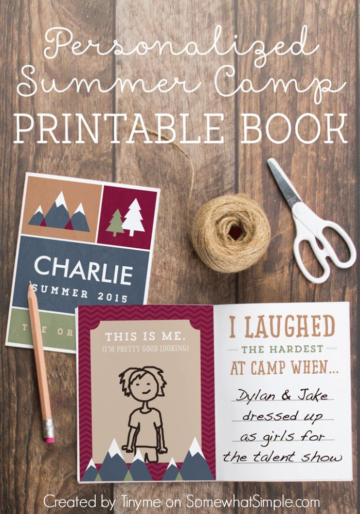 Summer Camp Journal Free Printables Printables