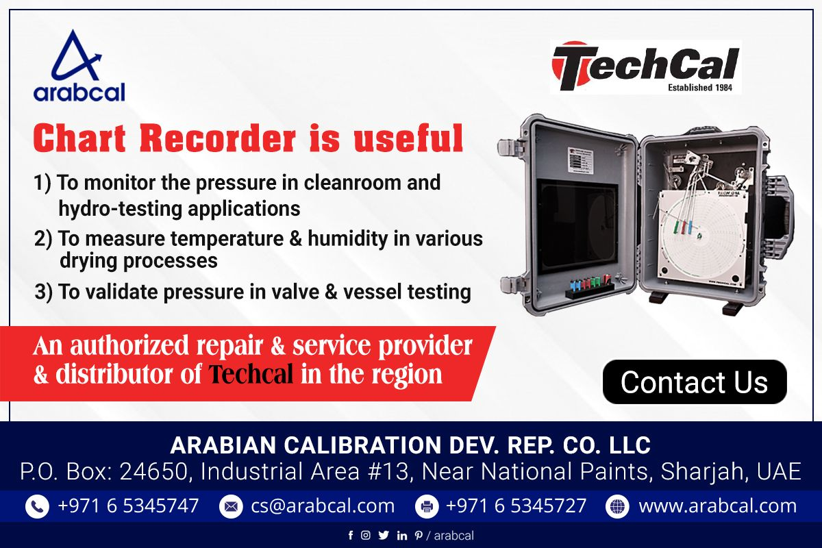 Chart recorders find its application in various industries