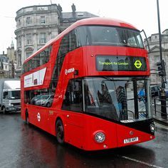 The new London buses, based on the classic Routemaster design.