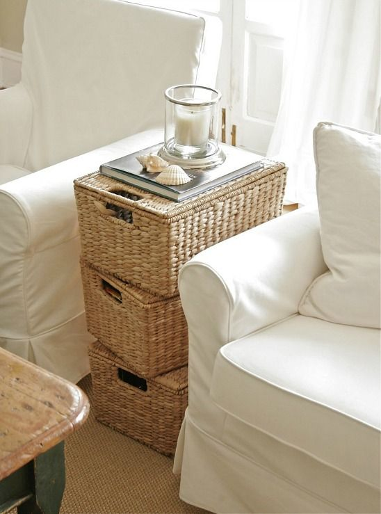 Coastal Wicker Baskets Decorative