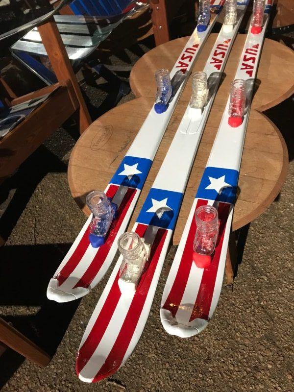 Quot Usa Quot Custom Oil Painted Shot Ski Shotz Skis Custom