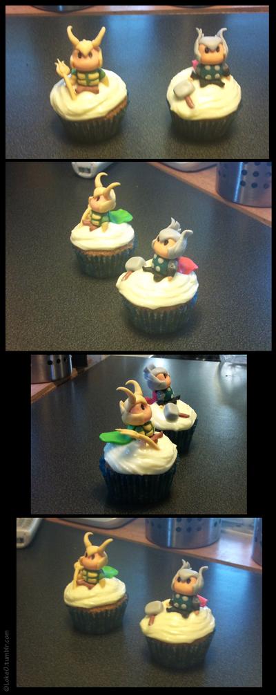 thor and loki cakes | Thor and Loki cupcakes by ~ GoreChick