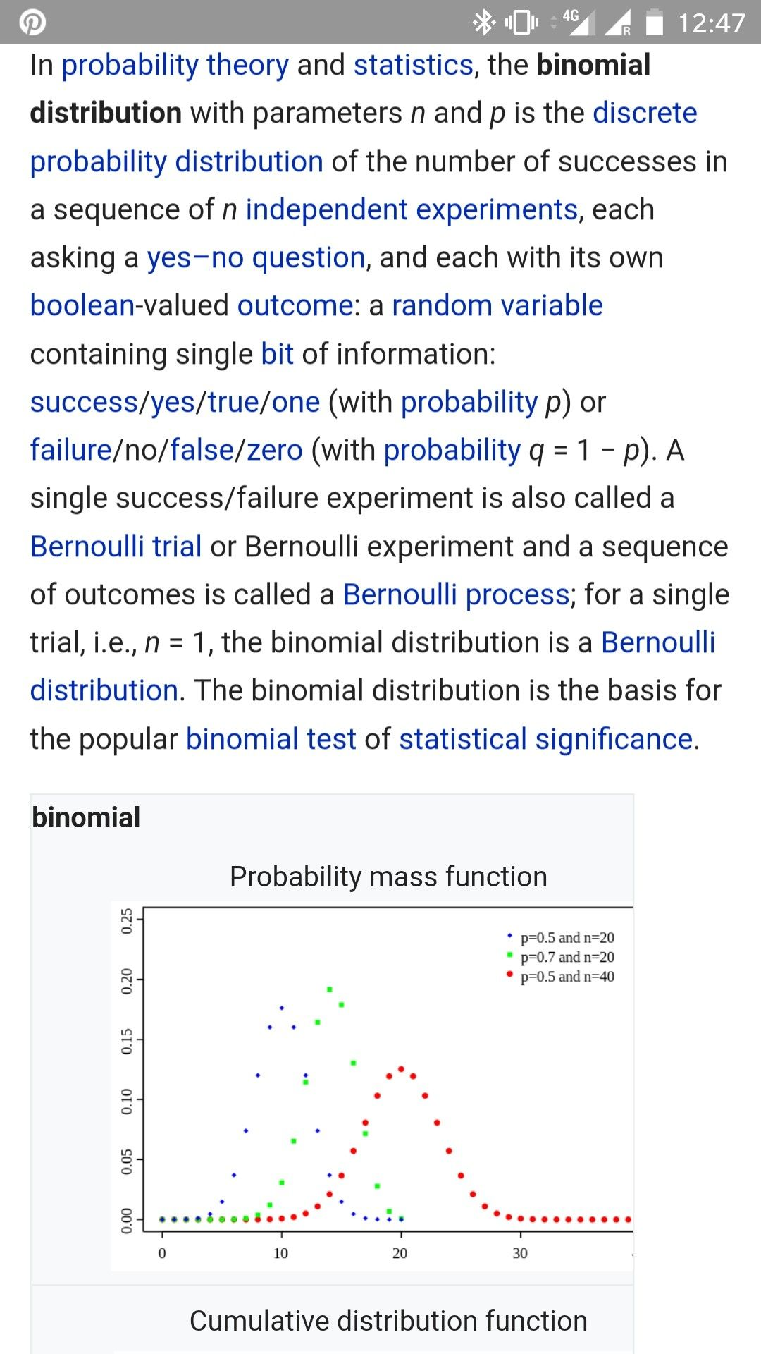 Binomial Distribution Theory
