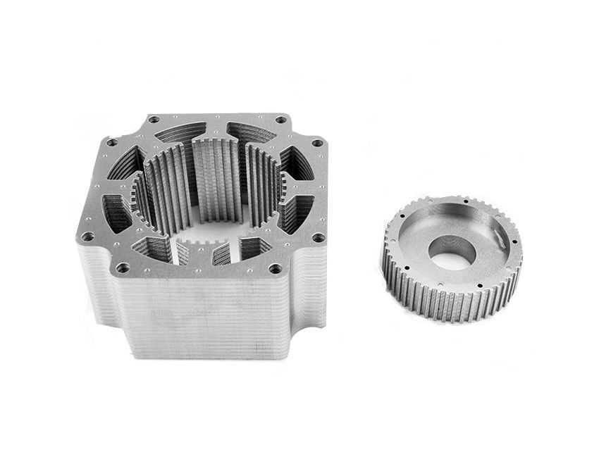 Rotor And Stator Stacks Core Packs Stepper Motor Stack Brushing Teeth