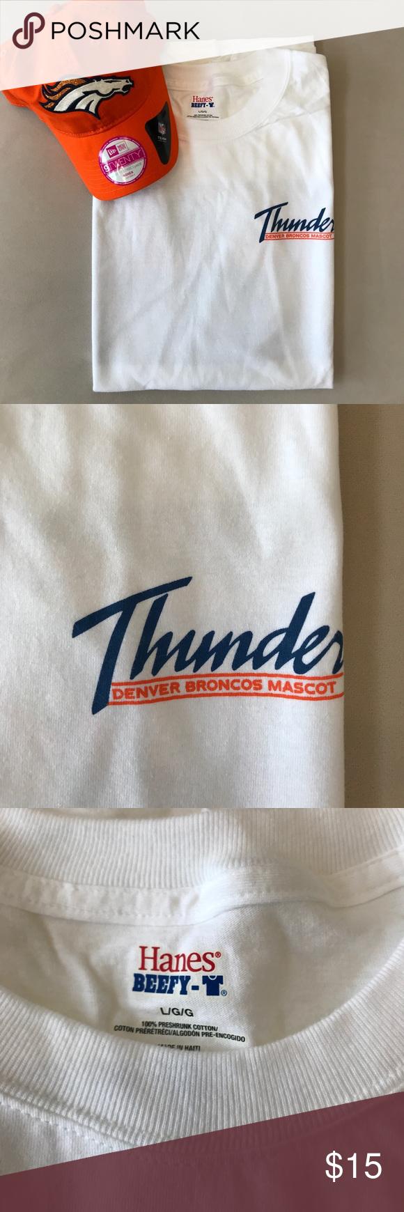 Brand new Denver Broncos Thunder Mascot Tshirt Shirts