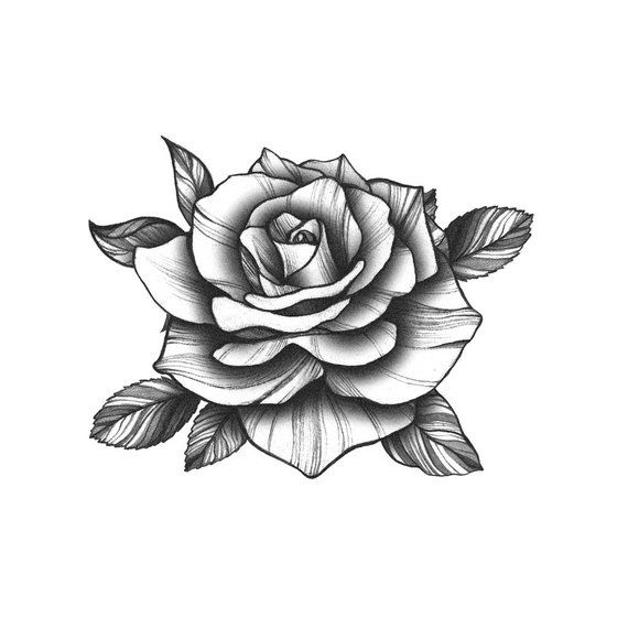 Photo of Black Vintage Rose – Temporary Tattoo / Rose Tattoo / Black Flower / Vintage Rose / Floral Tattoo /Flower Tattoo/Black Rose Temporary Tattoo