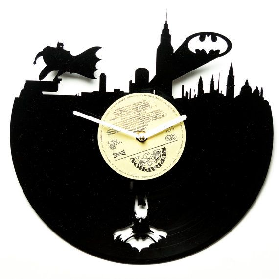Hey, I found this really awesome Etsy listing at https://www.etsy.com/listing/230435731/modern-vinyl-clock-wall-clocks-batman