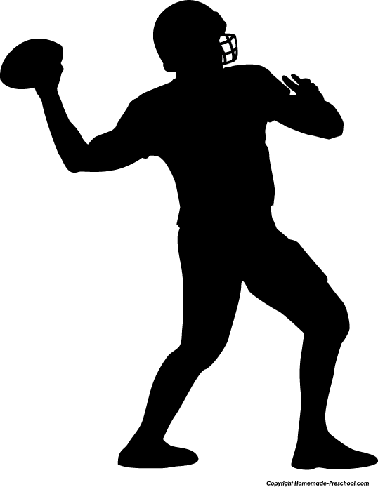Football silhouette. Fun and free clipart