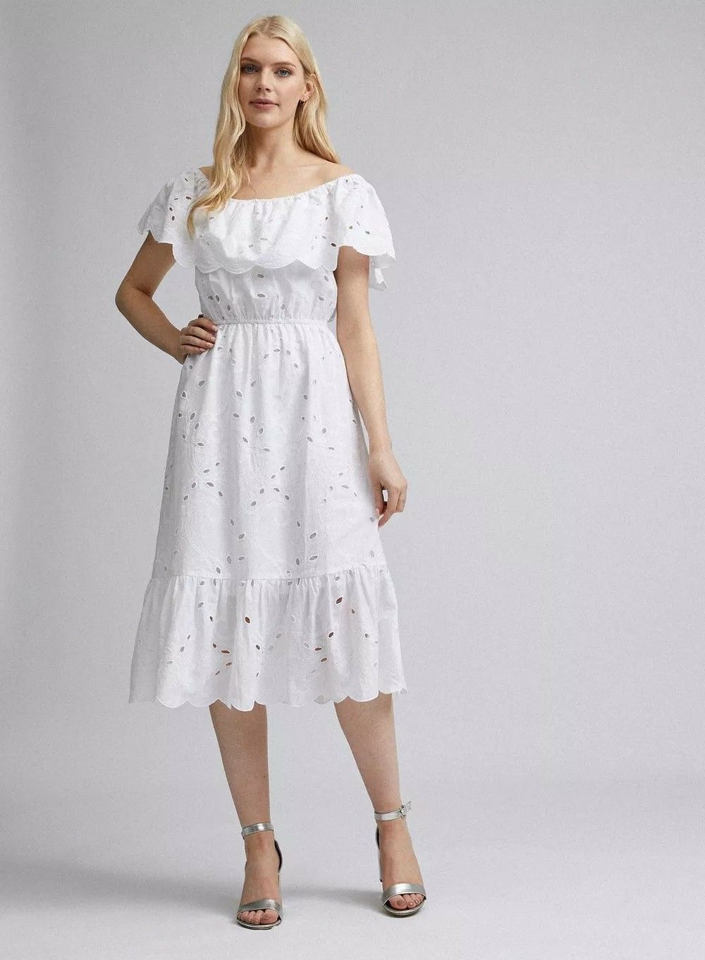 Pin By Toni Mason On Summer Looks Occasion Dresses Fit And Flare Dress White Midi Dress [ 1361 x 1000 Pixel ]