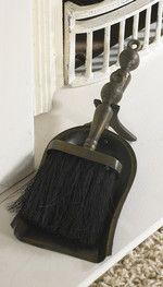 Coven Bronze Brush and Pan Set