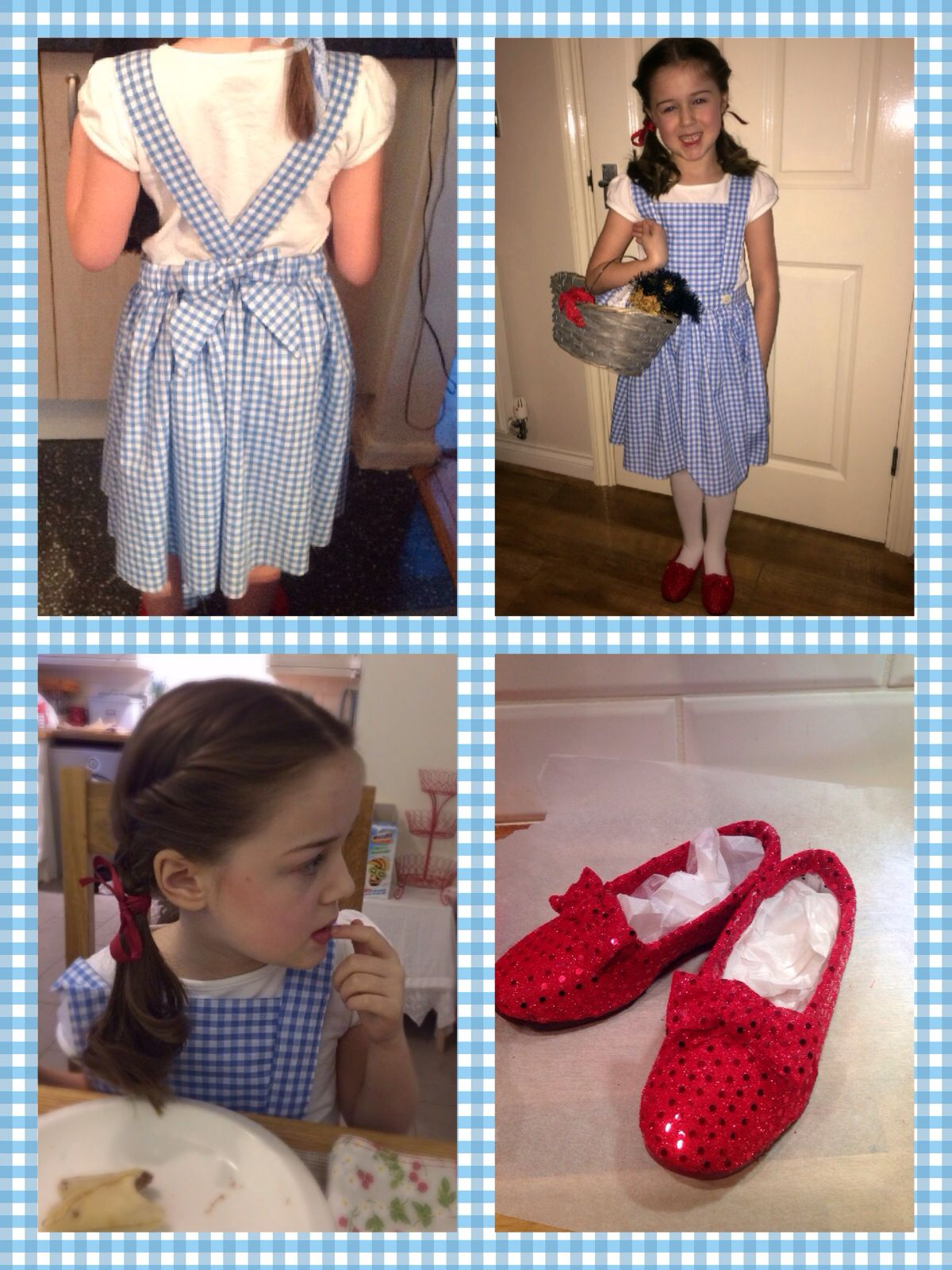 Wizard of oz Dorothy homemade world book day fancy dress costume ...