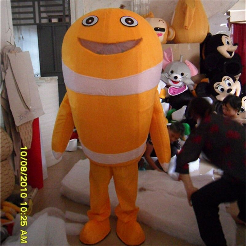 77c144d4 eBay #Sponsored Orange Fish Dolphin Adult Mascot Costume Deep Sea ...