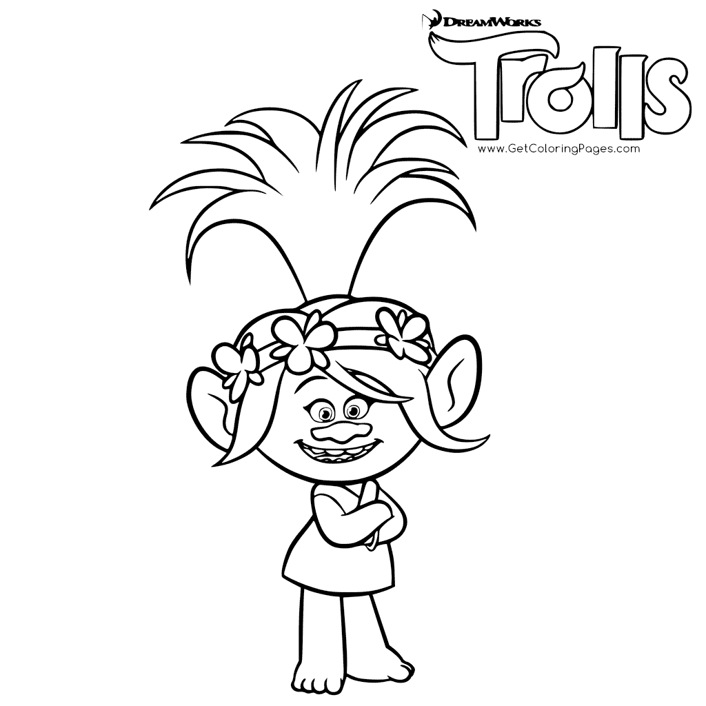 Trolls Poppy Troll Coloring Pages Printable And Book To Print For Free Find More Online Kids Adults Of