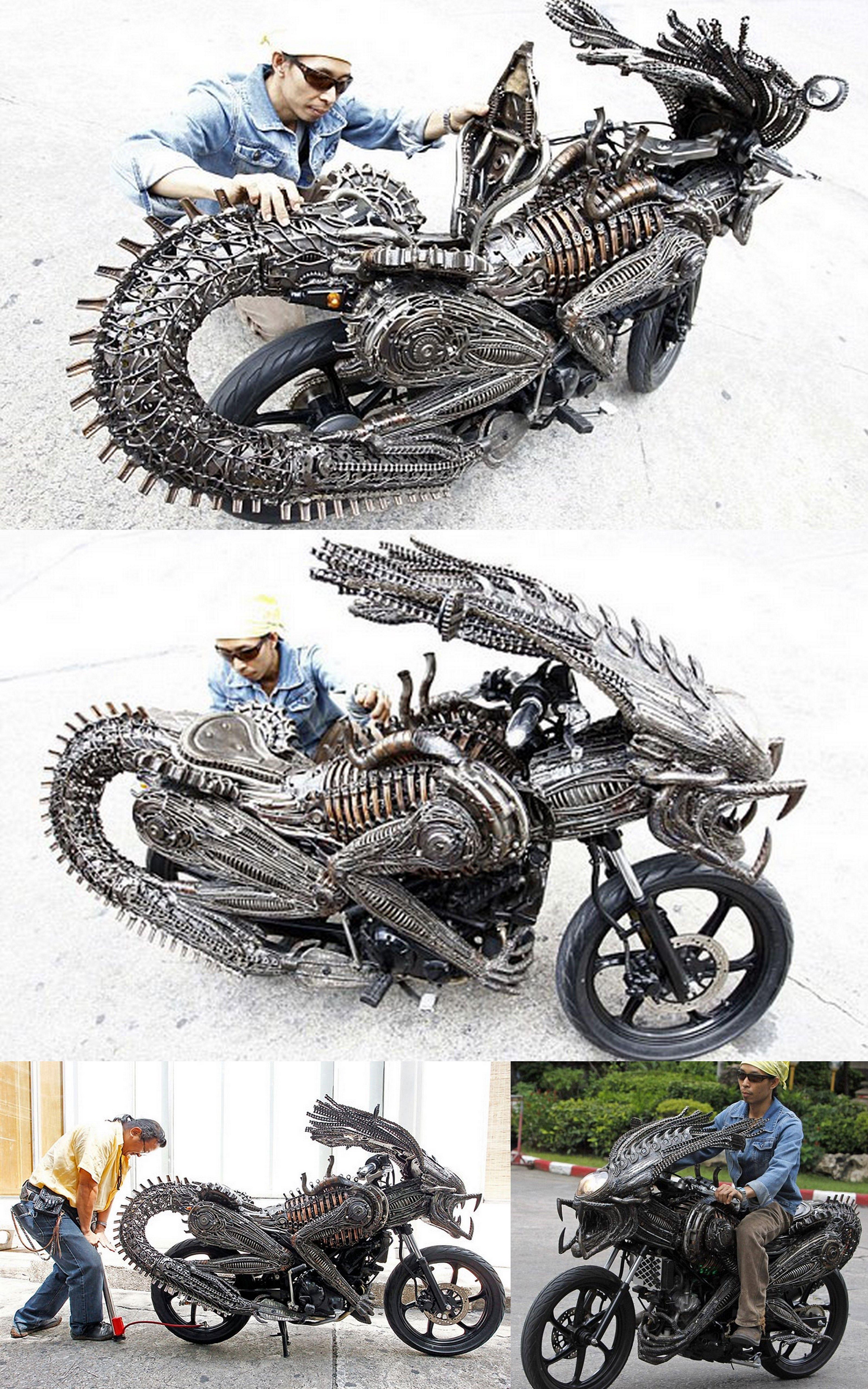 Alien Vs Predator Motorcycle Motocicletas Vintage Carros E